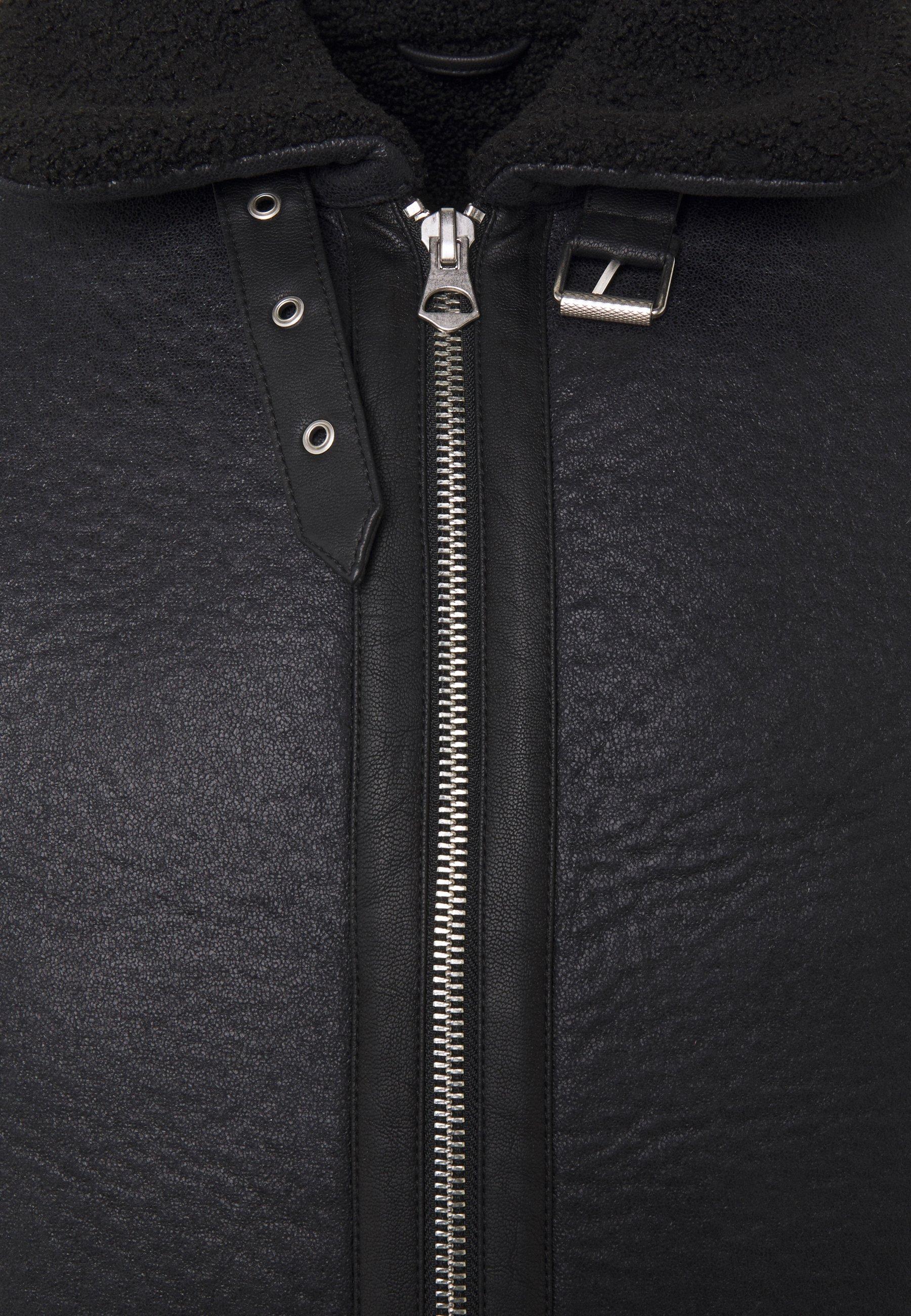 Ofertas Ropa de hombre Jack & Jones JOREAGLE JACKET Chaqueta de cuero sintético black bHWxy2