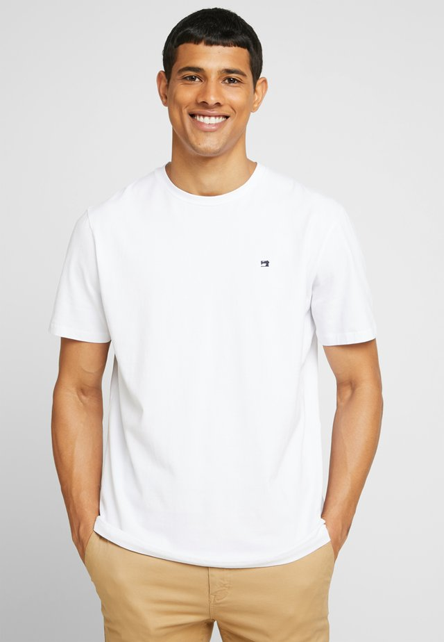 CREW NECK TEE - T-shirt - bas - white