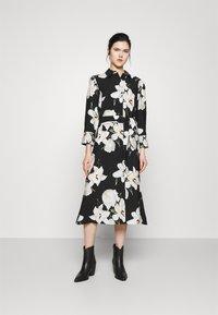 Object - OBJCASANDRA MIDI DRESS - Day dress - black - 0