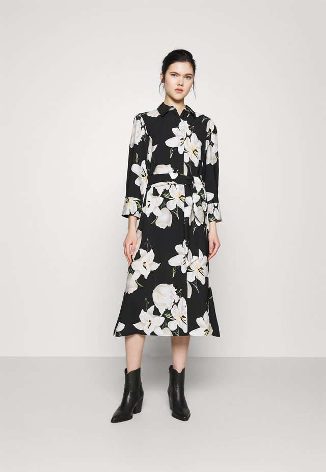 OBJCASANDRA MIDI DRESS - Day dress - black