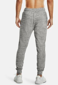 Under Armour - RIVAL TERRY  - Tracksuit bottoms - onyx white - 2
