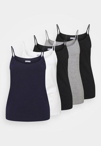 5 PACK - Top - black/white
