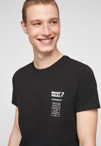 Q/S designed by - Print T-shirt - black - 3