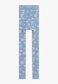 Ewers - SCHNEEFLOCKEN GLITZER - Leggings - light blue - 1