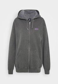 BDG Urban Outfitters - ZIP UP HOODIE - Hoodie - charcoal - 4
