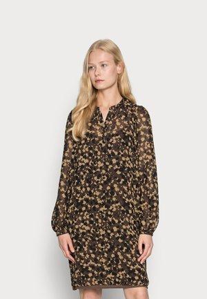 DRESSES LIGHT WOVEN - Abito a camicia - dark brown