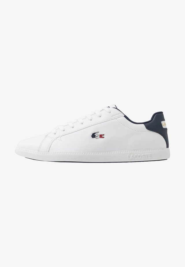 GRADUATE - Baskets basses - white/navy/red
