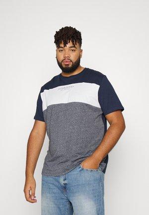 JJMONSE TEE CREW NECK - T-shirt med print - navy blazer