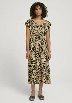 Jersey dress - beige animal print