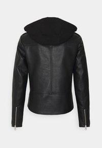 Calvin Klein Jeans - JACKET - Faux leather jacket - black - 1