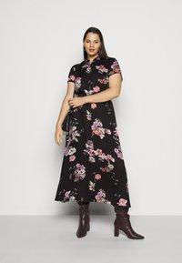Vero Moda Curve - VMLOVELY  DRESS - Sukienka koszulowa - black - 1
