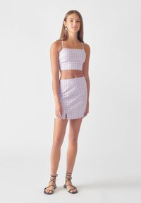 PULL&BEAR - A-line skirt - mauve - 1