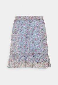 JDY - JDYJENNIFER LIFE MINI SKIRT - Mini skirt - baby blue/pink - 1