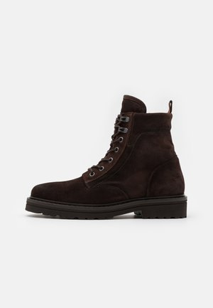 LACE UP BOOT - Lace-up ankle boots - dark brown