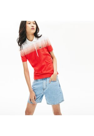 Polo shirt - red/pink/white
