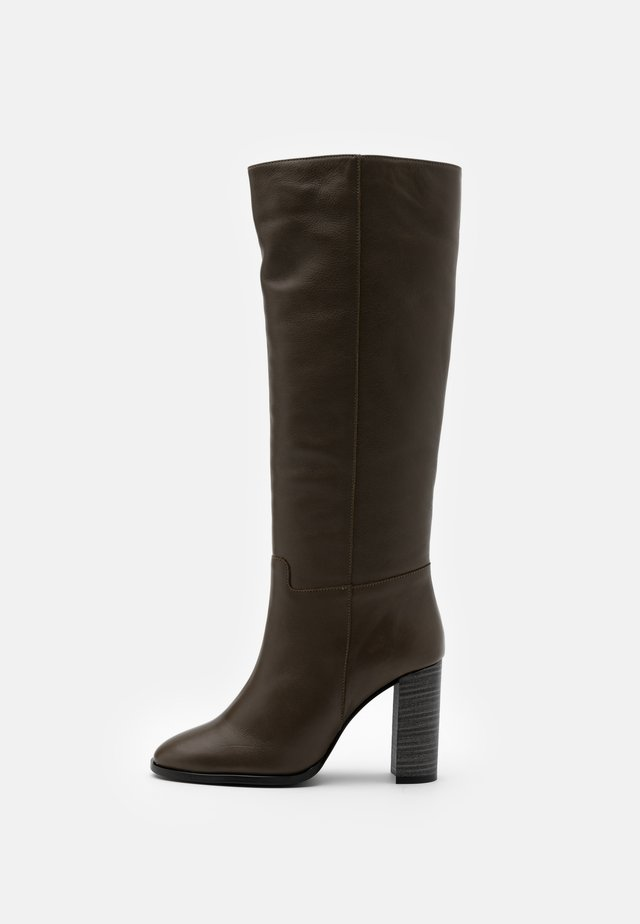 High heeled boots - volga kaki