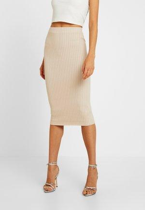 Pencil skirt - stone