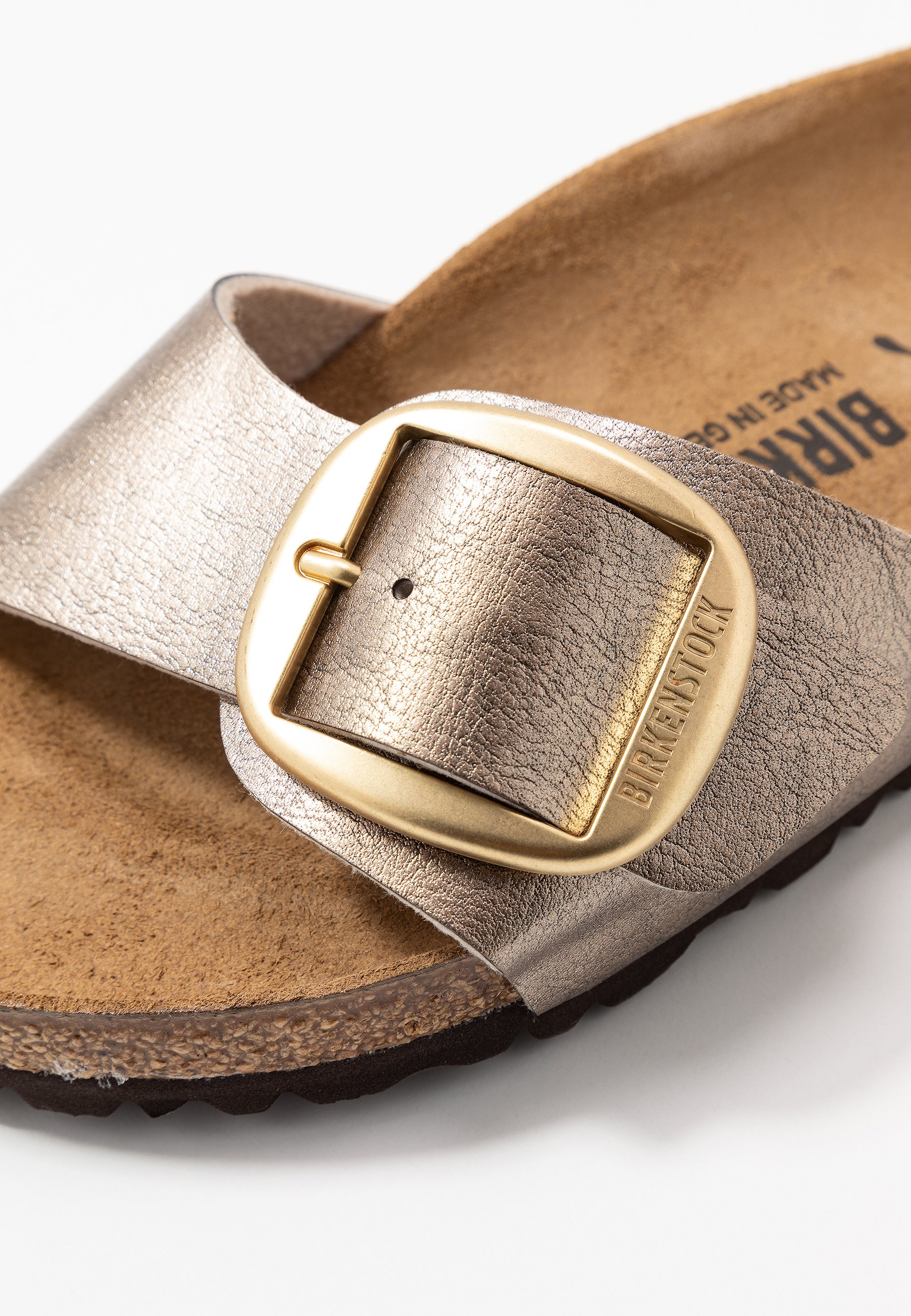 Birkenstock MADRID BIG BUCKLE Hausschuh graceful taupe/taupe