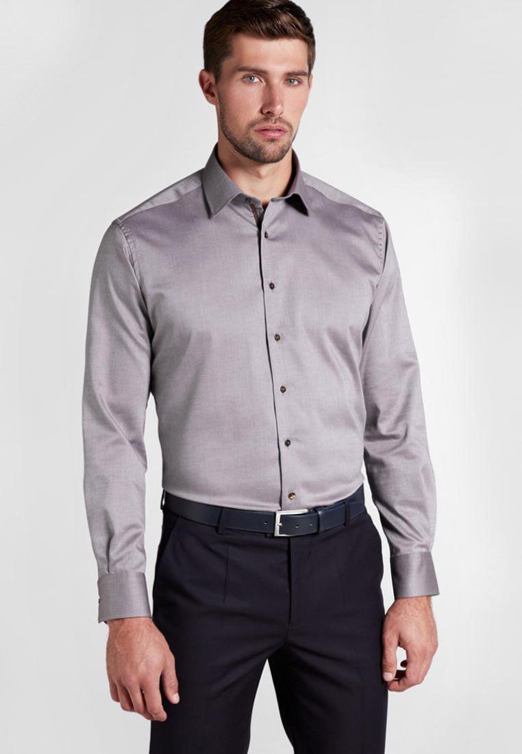Eterna - FITTED WAIST - Formal shirt - beige brown