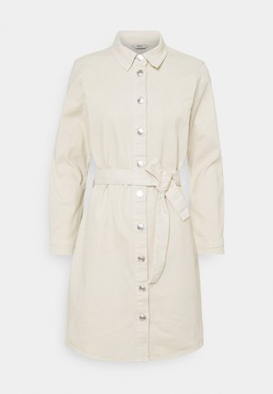 ONLLAUREL LIFE FRILL DRESS - Shirt dress - eggnog