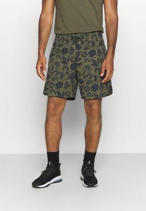 FLORAL SHORT - Sports shorts - olive/navy