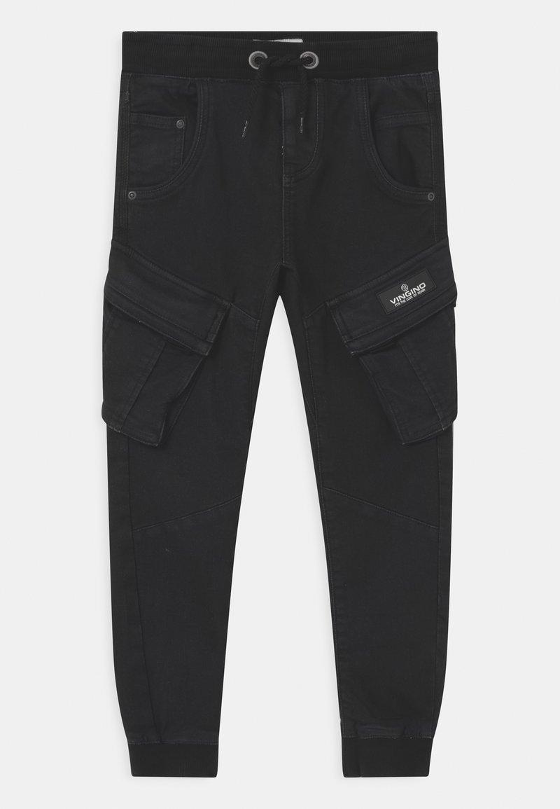 Vingino - CARLOS - Cargo trousers - deep black