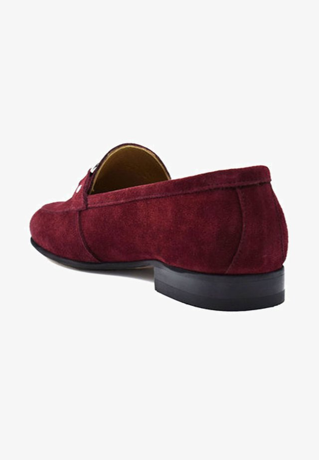Loaferit/pistokkaat - bordeaux suede