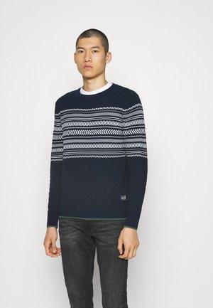 JORMATTIE CREW NECK - Stickad tröja - dark blue