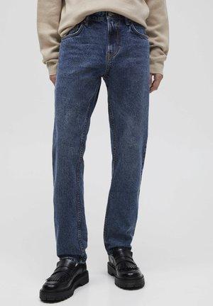Džíny Straight Fit - mottled blue