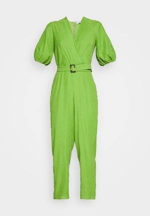 PLEATED WRAP - Jumpsuit - green