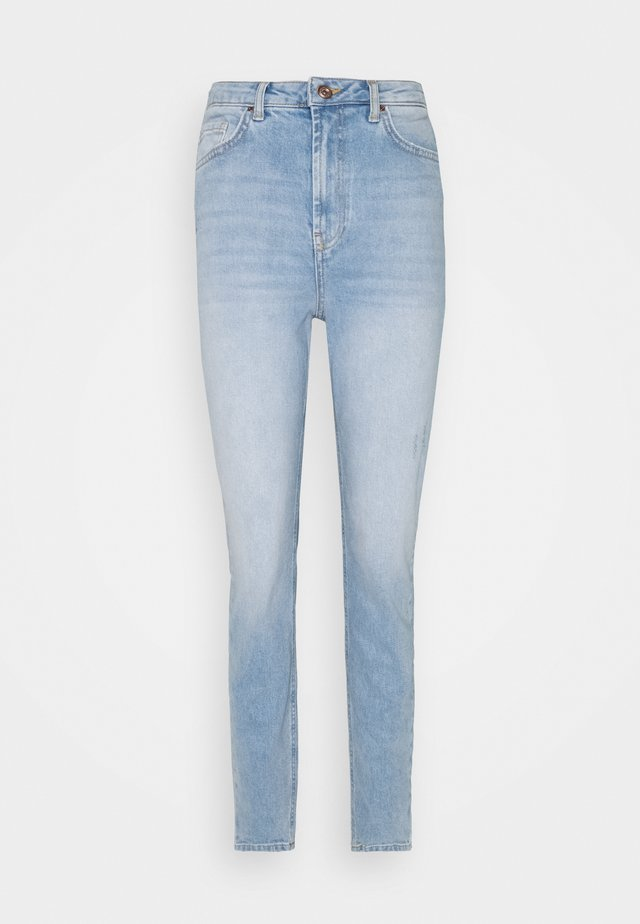 PCLEAH MOM - Jeans slim fit - light blue denim