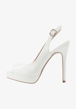 HARPER - Peeptoe heels - white