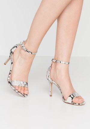 PILIRIA - High heeled sandals - silver