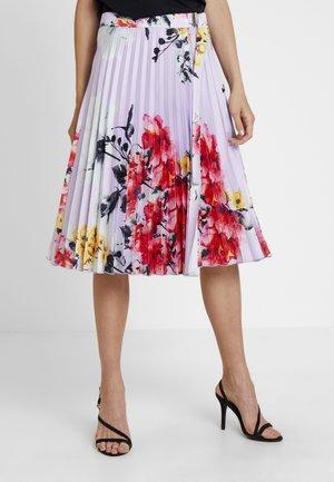 PRINTED PLISSEE SKIRT - A-line skirt - lavender/multicolor