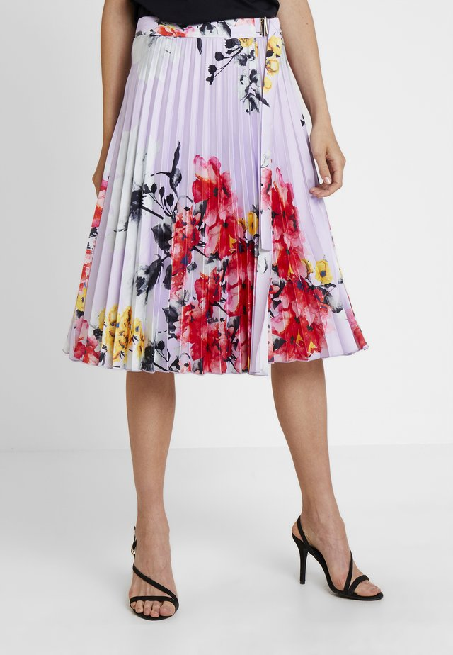 PRINTED PLISSEE SKIRT - Gonna a campana - lavender/multicolor