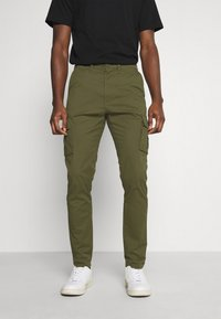 Solid - TRUC CARGO FIRM WAIST - Cargo trousers - ivy green - 0