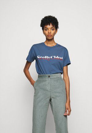 T-shirts med print - faded indigo