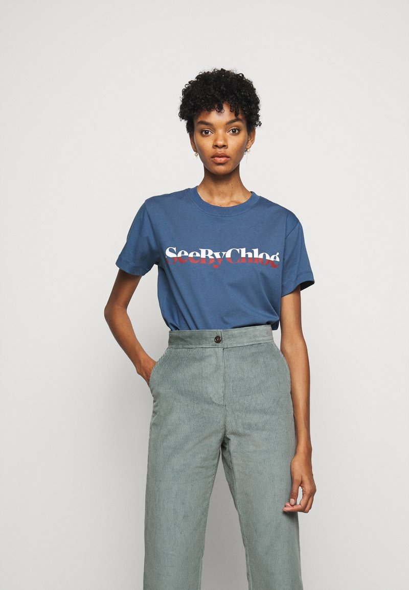See by Chloé - Print T-shirt - faded indigo