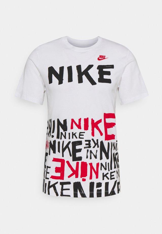 TEE - Print T-shirt - white/university red