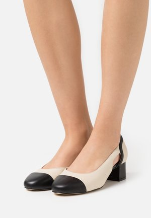 LEATHER - Klassiske pumps - beige/black