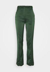 Glamorous - STUDIO SPLIT SKINNY FIT TROUSER - Trousers - forest green - 0
