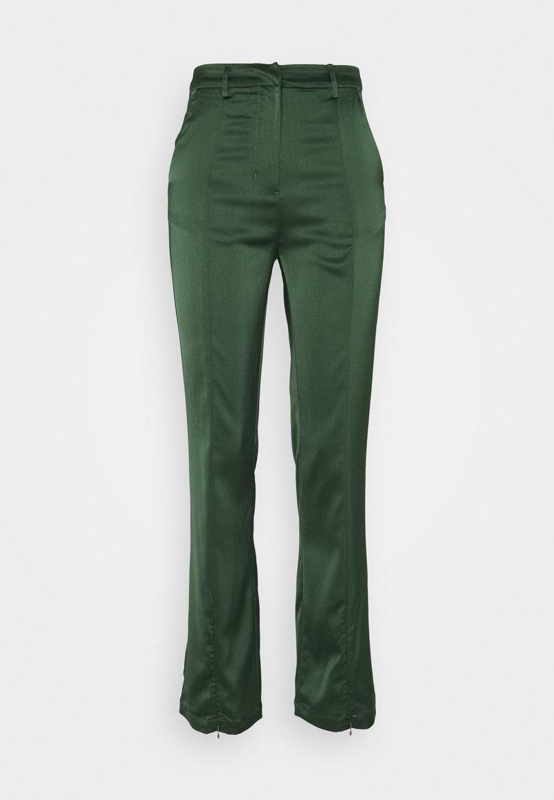 Glamorous - STUDIO SPLIT SKINNY FIT TROUSER - Trousers - forest green