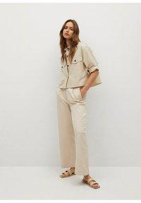 Mango - Button-down blouse - mittelbraun - 1
