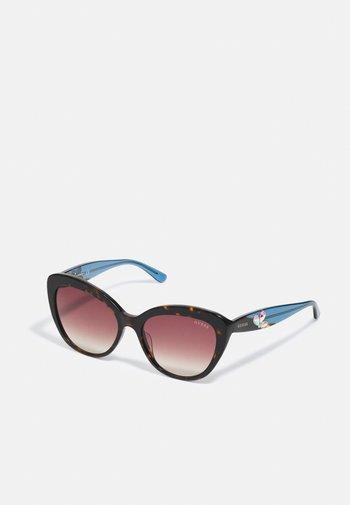 Sunglasses - dark havana / gradient brown