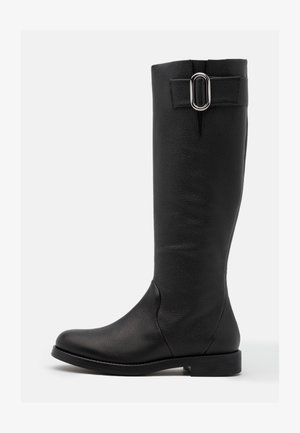 PIPER FLAT BOOT - Vysoká obuv - black
