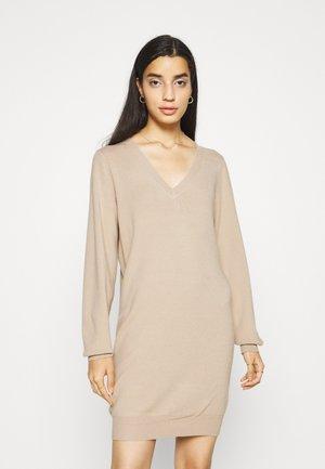 NMSHIP DRESS - Jumper dress - beige
