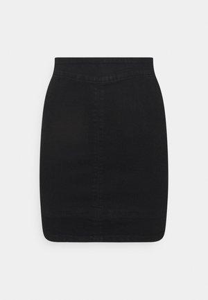 ONLJULIE LIFE SKIRT - Spódnica mini - black denim