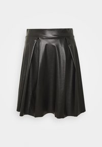 Anna Field - Fake Leather mini A-line skirt - Mini skirt - black - 3