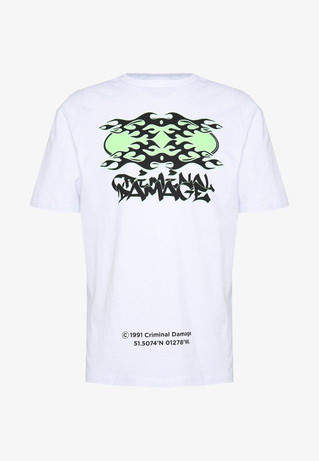 RAVE LOGO TEE - T-shirt imprimé - white