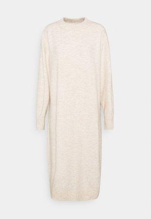 FELIA DRESS - Strikket kjole - ecru melange